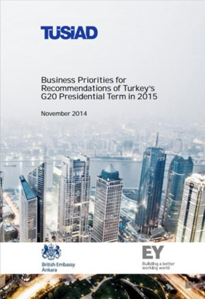 Business Priorities for Recommendations of Turkey's G20 Presidential Term in 2015