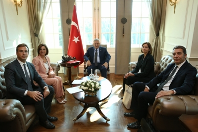 TÜSİAD President of the Board of Directors Cansen Başaran-Symes Leads TÜSİAD Delegation in Meeting with Prime Minister Binali Yıldırım in Çankaya Mansion